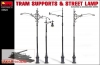MiniArt 35523 Tram Supports and Street Lamp (1:35)