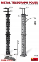MiniArt 35529# Metal Telegraph Poles (1:35)
