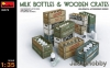 MiniArt 35573 1/35 Milk Bottles & Wooden Crates