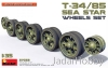 "MiniArt 37033 1/35 T-34/85 ""Sea Star"" Wheels Set"