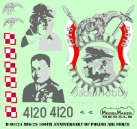 ModelMaker Decals D72124 1/72 MiG-29 100th Anniversary of Polish Air Force