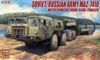 ModelCollect UA72048 1/72 Soviet/Russian Army MAZ-7410 with ChMZAP-9990 semi-trailer
