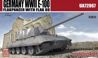 ModelCollect UA72067 1/72 Germany WWII E-100 Flakpanzer with FLAK 88