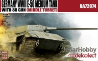 ModelCollect UA72074 1/72 Germany WWII E-50 Medium Tank with 88/L71 gun (middle turret)