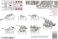 ModelCollect UA72150 1/72 WWII Germany landcruiser p.1000 ratte weapon set pack