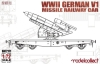 Model Collect UA72171 1/72 WWII Germany V1 Missile Railway Car