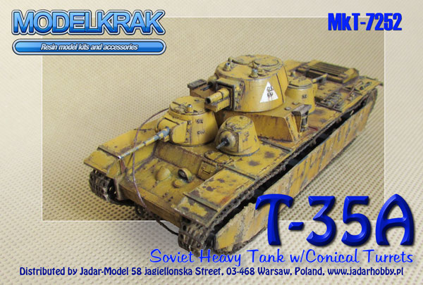 Modelkrak MkT-7252 T-35A model 1939 with conical turrets (1/72)