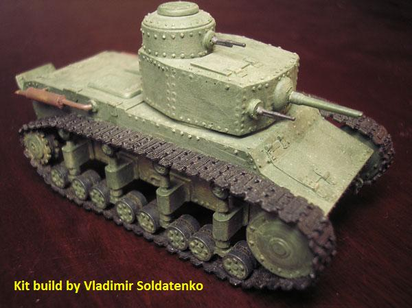 Modelkrak Mkt-7245 - T-12 Soviet Medium Tank (1/72)