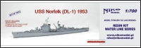 Niko Model 7072 1/700 USS NORFOLK DL-1 1953 US Navy Destroyer Leader