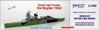 Niko Model 7082 1/700 Dutch Light Cruiser De Ruyter 1942