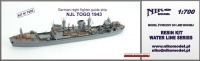 Niko Model 7095 1/700 NJL TOGO German night fighter guide ship, 1943