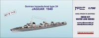 Niko Model 7110 1/700 German torpedo-boat type 24 JAGUAR (1940)