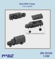 Niko Model ZW3512 1/350 Opel Blitz Cargo (3 to a pack)