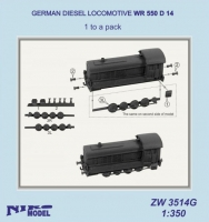 Niko Model ZW3514 1/350 GERMAN DIESEL LOCOMOTIVE WR 550 D 14 (1 to a pack)