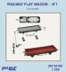 Niko Model ZW3516 1/350 RAILWAY FLAT WAGON (2 to a pack)