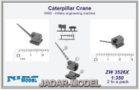 Niko Model ZW3526X 1/350 Caterpillar Crane WWII