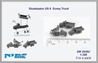 Niko Model ZW3530U 1/350 Studebaker US6 Dump Truck (3 to a pack)