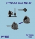 "Niko Model ZW7028 1/700 3""/70 AA Gun Mk.37 (4 to a pack)"
