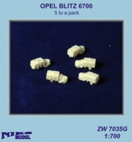 Niko Model ZW7035 1/700 OPEL BLITZ 6700  (5 to a pack)