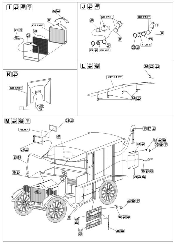 Part P48035 - Ford T M1917 A.E.F. Ambulance (1/48)