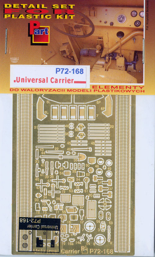 Part P72168 Universal Carrier (1/72)