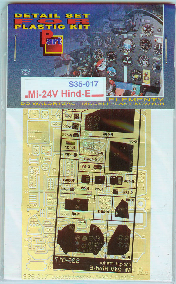 Part S35017 Mi-24V Hind E (cockpit and interior) (1/35)