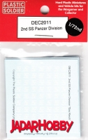 Plastic Soldier DEC2011 Decal Set 2nd SS Panzer Division (1:72)