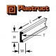 Plastruct 90531 (CFS-2) Fineline Styrene Channel 1.6mm (1 sztuka)