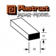 Plastruct 90721 Styrene Rectangular Strip 0.5mm x 0.8mm (1 sztuka)