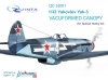 Quinta QC32001 1/32 Yak-3 canopy, open & close position (Special Hobby)