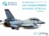 Quinta QD48045-Base 1/48 F-16D (block 30/40/50) (Kinetic)