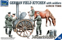 Riich Models RV35045 1/35 WWII Greman Field Kitchen with Soldiers lunch Time