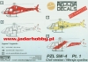 "Rotor Decals RDH48002 1/48 PZL SW-4 ""Puszczyk""- civil version Pt.1"