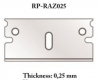 RP Toolz RP-RAZ025 0,25 mm Razor blade for cutter