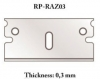 RP Toolz RP-RAZ03 0,3 mm Razor blade for cutter