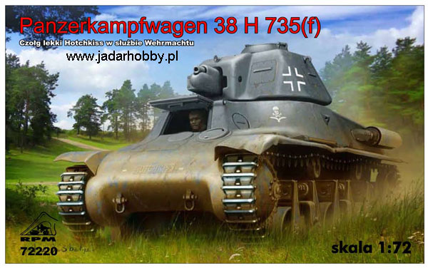 RPM 72220 PzKpfw 38H 735(f) - Hotchkiss in Wehrmacht Sevice (1:72)