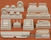 S.B.S Model 72008 1/72 MIG-21 BIS wheel bays + wheels
