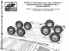 SG-Modelling F72023 1/72 Wheels for German staff car G4. Tyres type 1, early wheels (8pcs.)
