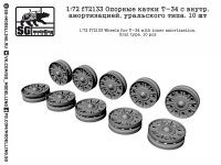 SG-Modelling F72133 1/72 Wheels for T-34 with inner amortization, Ural type (10 pcs)