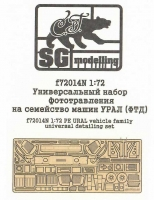 SG-Modelling F72014N 1/72 URAL vehicle family PE detailing set