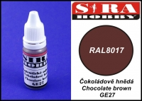 Sira Hobby GE27 Chocolate Brown RAL8017 (Farba akrylowa 12ml)