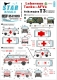 Star Decals 35-C1010 1/35 VW T3. Red Cross ambulance and Lebanese Army transporter