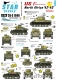Star Decals 35-C1046 1/35 US in North Africa # 2. 1st Armored Division M4 Sherman, M3 Stuart.