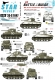 Star Decals 35-C1047 1/35 Battle of the Bulge. 6th Armored Division Shermans.
