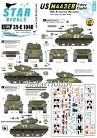 Star Decals 35-C1048 1/35 US M4A3E8 Easy Eight. 6th Armored Division M4A3E8 HVSS Sherman.