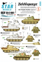 Star Decals 35-C1061 1/35 Befehlspanzer # 5. Bef.PzKpfw Panther Ausf D and A.