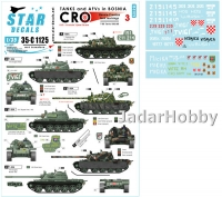 Star Decals 35-C1125 1/35 Tanks & AFVs in Bosnia # 3.