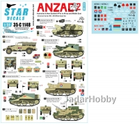 Star Decals 35-C1148 1/35 ANZAC # 2. Australian & NZ AFVs in Mid-East and Africa. Universal Carriers, Scout Car.