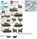 Star Decals 35-C1149 1/35 Royal Artillery in Italy. M7 Priest, M3 Halftrack, Sherman, M10 Achilles