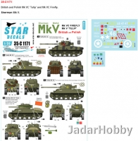 Star Decals 35-C1171 1/35 Sherman Mk V. British and Polish Mk V 'Tulip' and Mk VC Firefly.